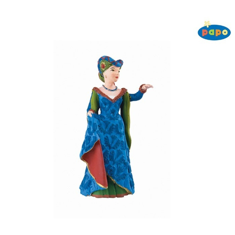 Figurina Papo-Printesa medievala albastra