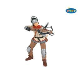 Figurina Papo Cavaler cu arbaleta rosu