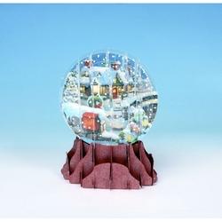 Felicitare 3D tip glob-Casuta luminata