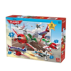Puzzle 4 in 1 profilat Planes (4,6,9,20 piese)