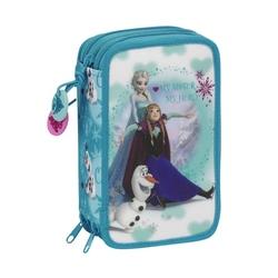 Penar triplu echipat colectia Frozen Ice Disney 41 piese