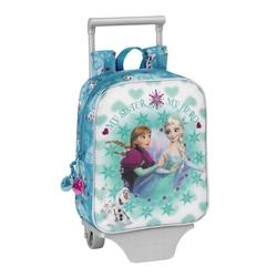 Ghiozdan copii cu troler junior colectia Frozen Ice Disney
