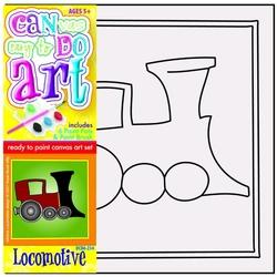Pictura pe panza pentru copii Locomotiva