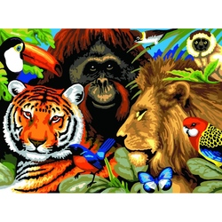 Pictura pe numere juniori - Safari Jad Flamande