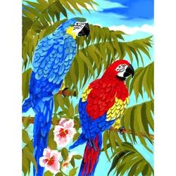 Prima mea pictura pe numere junior 2 Papagali 24x33 cm