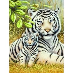Prima mea pictura pe numere Tigri albi