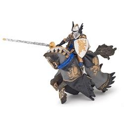 Cavalerul dragon si calul sau (negru) - Set figurine Papo