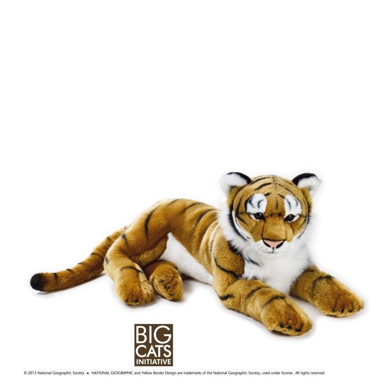 Jucarie din plus National Geographic Tigru 65 cm