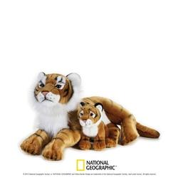 Jucarie din plus National Geographic Tigru cu pui 48cm