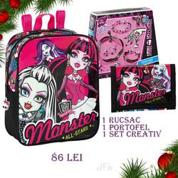 Pachet de Craciun Monster High set 3 piese
