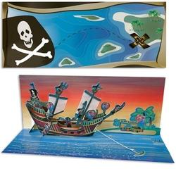 Felicitare Corabie de pirati-3D Panoramics
