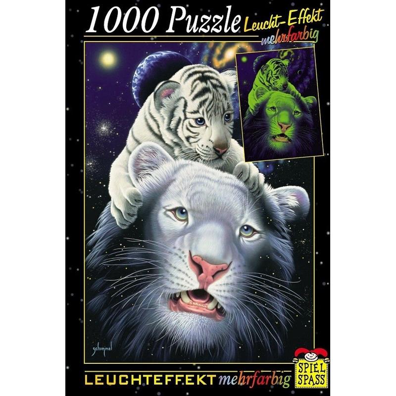 Puzzle fosforescent 1000 piese asortat