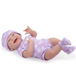 Jucarie bebelus nou-nascut in costum mov