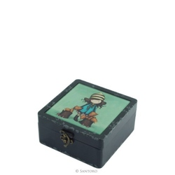 Gorjuss cutie mica din lemn si sticla - The Foxes