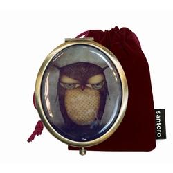 Oglinda ovala in cutie Eclectic Grumpy Owl