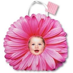 Punga de hartie-Gerbera roz cu fetita