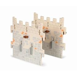 Papo Set 2 pereti mijocii din lemn pentru castel