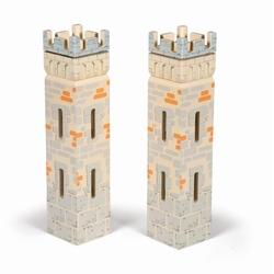 Papo Set 2 turnuri mici din lemn pentru castel