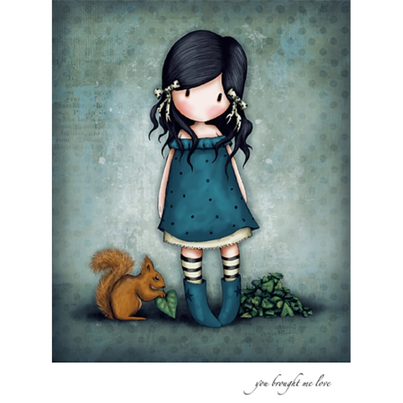 Felicitare Gorjuss-You Brought Me Love