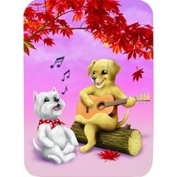 Felicitare Eclectic-Canine Singalong. O felicitare care va face ca zilele tale sa fie mai bune.