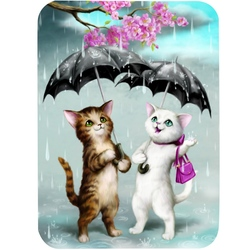 Felicitare Eclectic-Raining Cats. O felicitare draguta pentru cei dragi.