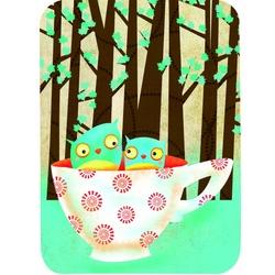 Felicitare Eclectic-Cup Of Owls. O felicitare perfecta pentru a fi daruita celor dragi