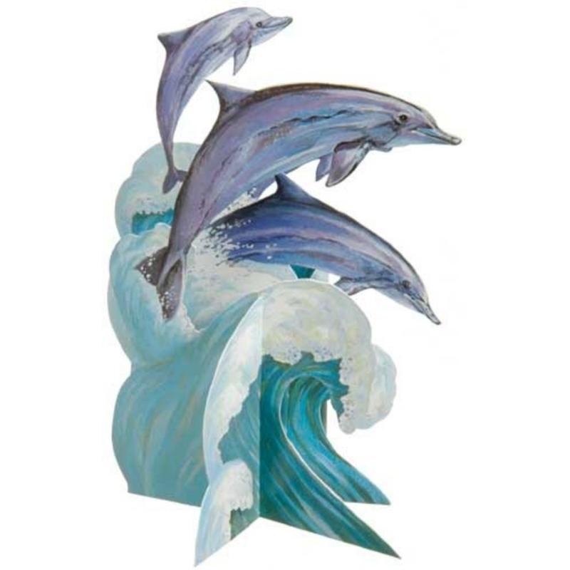 Felicitare 3D-Delfini