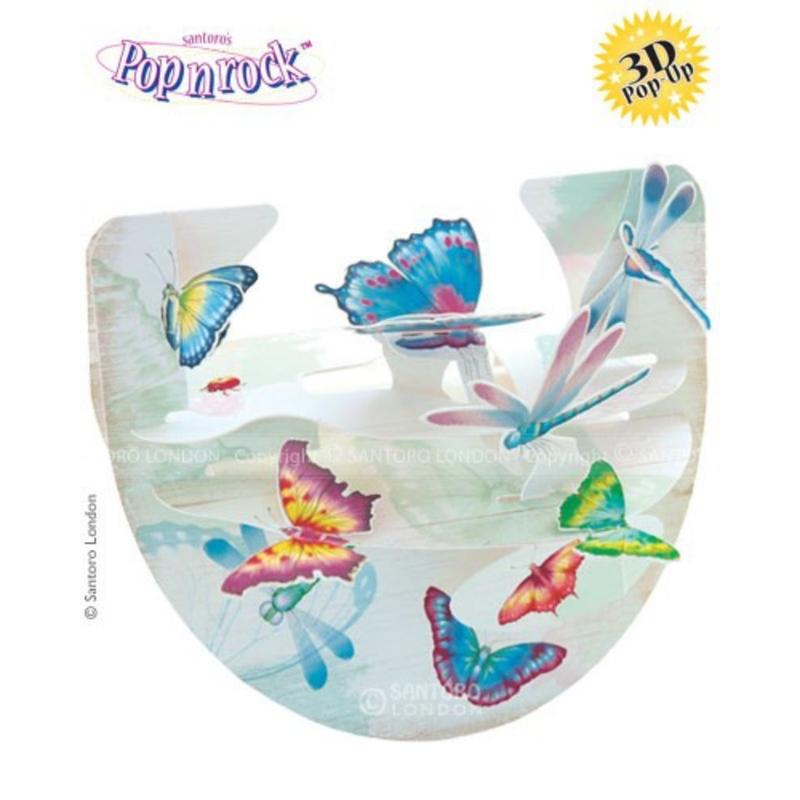 Felicitare 3D Popnrock-Fluturi