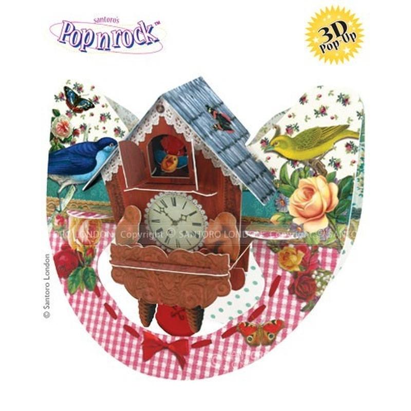 Felicitare 3D Popnrock-Ceas cu cuc