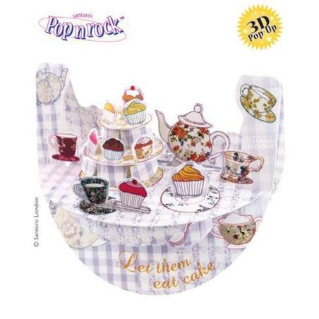 Felicitare 3D Popnrock-Ceai si prajituri
