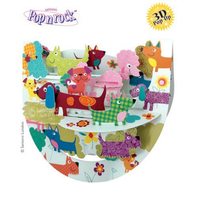 Felicitare 3D Popnrock-Catei