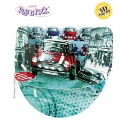 Felicitare 3D Popnrock-Mini Cooper