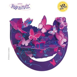 Felicitare 3D Popnrock-Fluturi Violet