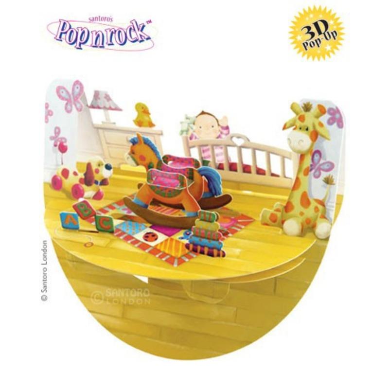 Felicitare 3D Popnrock-Bebe