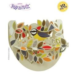 Felicitare 3D Popnrock-Pasare intre frunze