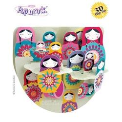 Felicitare 3D Popnrock-Papusi rusesti