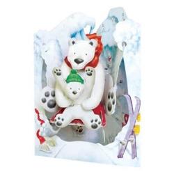 Felicitare 3D Swing Cards dinamica model-Usi polari. O felicitare perfecta pentru cei dragi.