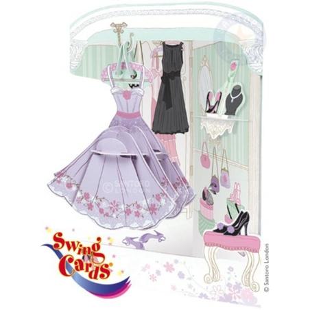 Felicitare 3D Swing Cards dinamica model-Garderoba