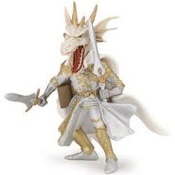 Figurina Papo - Cavaler mutant dragon alb