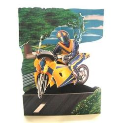 Felicitare 3D Swing Cards dinamica model-Motocicleta
