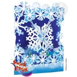 Felicitare 3D Swing Cards dinamica model-Fulg de zapada. O felicitare draguta pentru cei dragi.