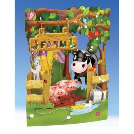 Felicitare 3D Ferma-Swing Cards