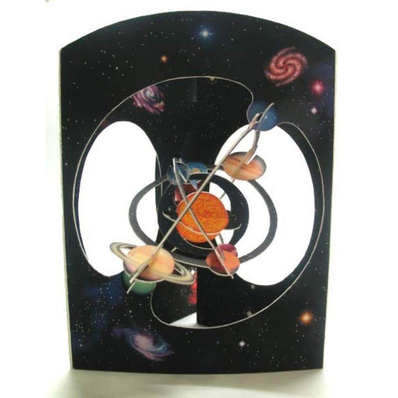 Felicitare 3D Sistem solar-Swing Cards