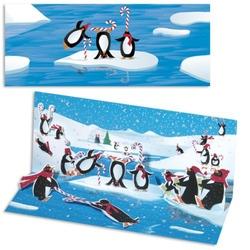 Felicitare Pinguini-3D Panoramics - felicitare de Craciun ca cele mai frumoase sarbatori de iarna sa fie perfecte.