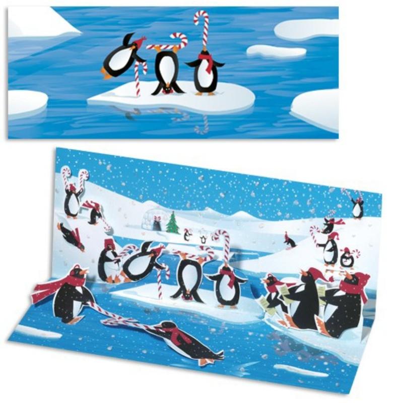 Felicitare Pinguini-3D Panoramics