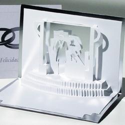 Felicitare 3D stil Origami-Nunta de argint. O invitatie la o nunta de neuitat.