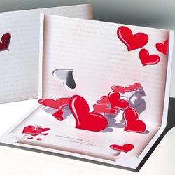 Felicitare 3D stil Origami-Scrisoare de dragoste