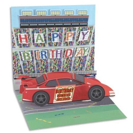 Felicitare 3D Treasure-Masina de curse