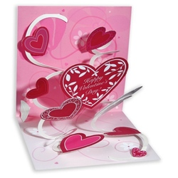 Felicitare 3D Treasure-Sf.Valentin. O felicitare perfecta pentru iubit/ iubita.
