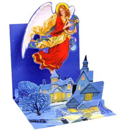Felicitare 3D Treasure de iarna-Inger